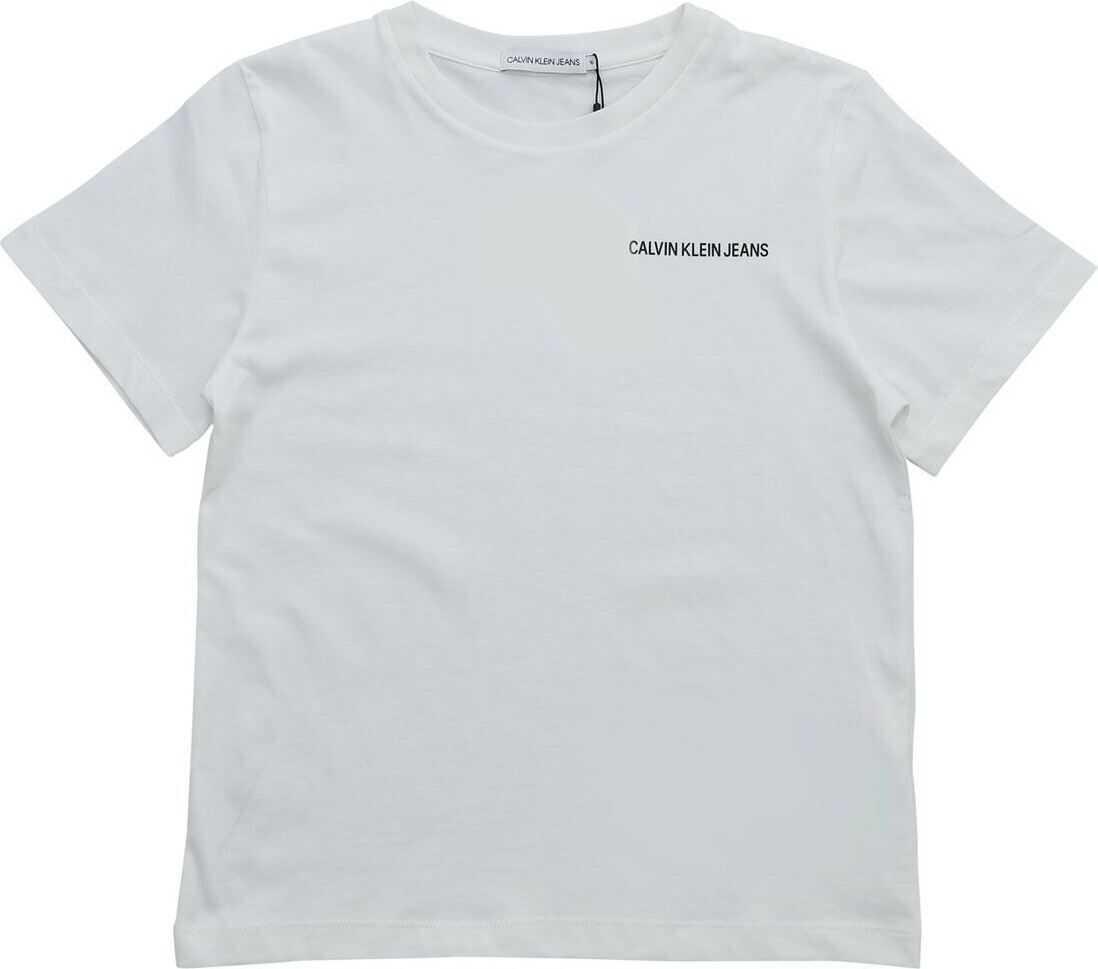 Calvin Klein Jeans White T-Shirt With Calvin Klein Jeans Print White