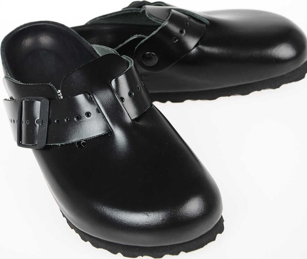 Rick Owens BIRKENSTOCK Leather BOSTON Sabot BLACK