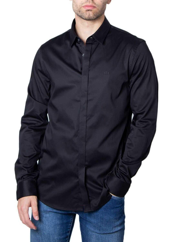 Armani Exchange Cotton Shirt BLACK