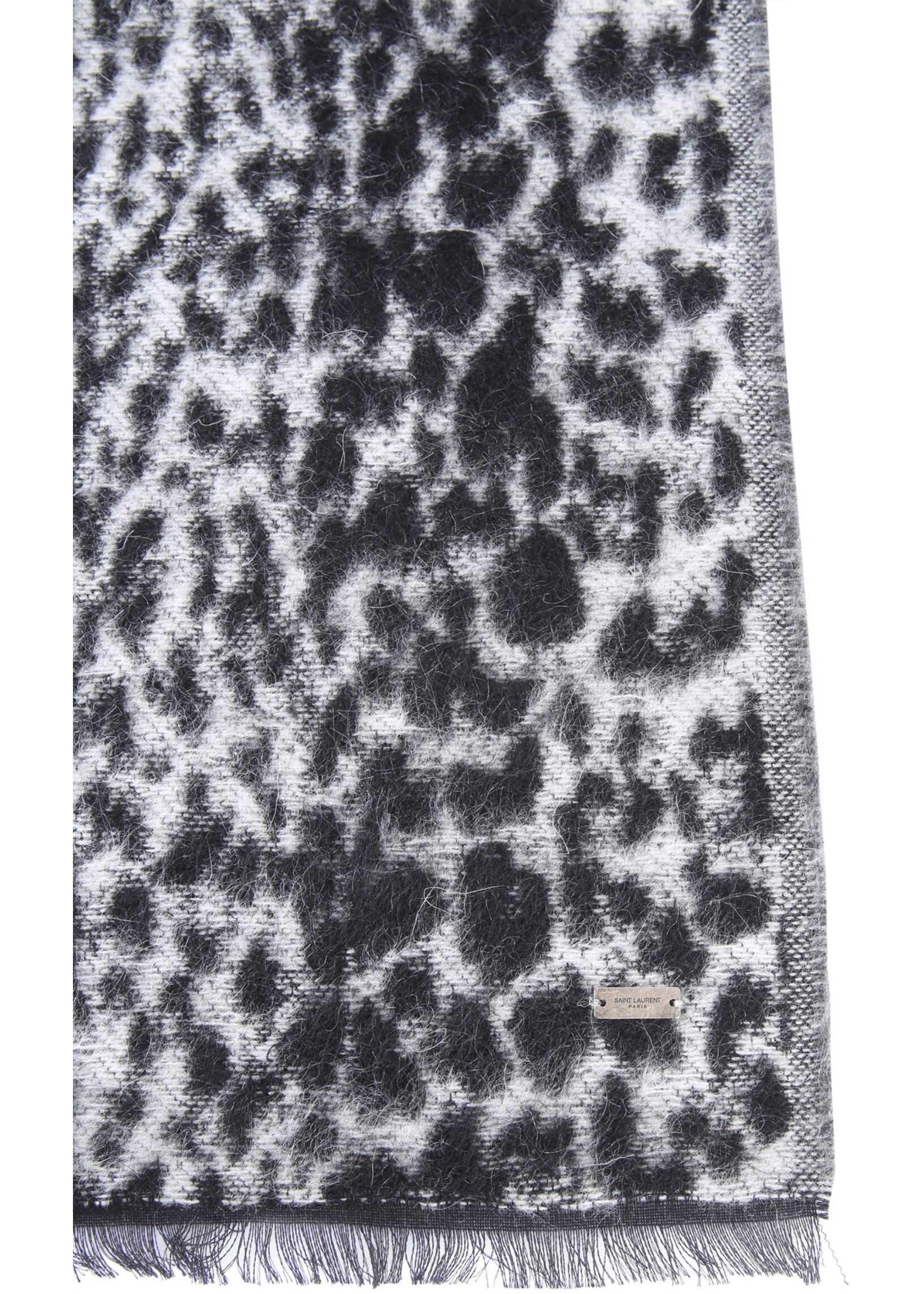 Saint Laurent Etole Leopard Scarf BLACK