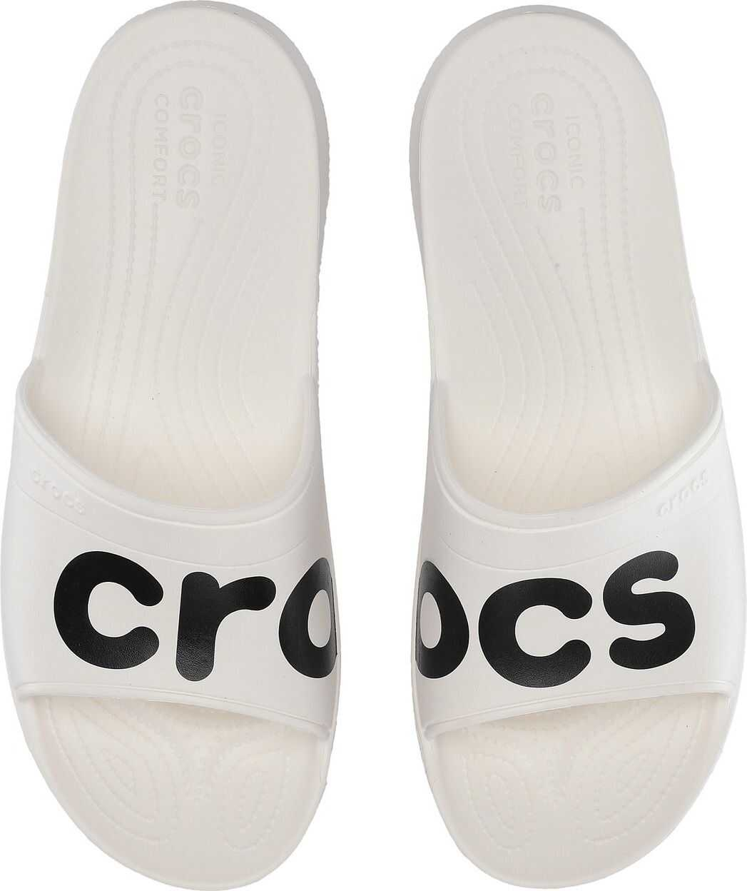 Crocs Classic Graphic Slide White/Black
