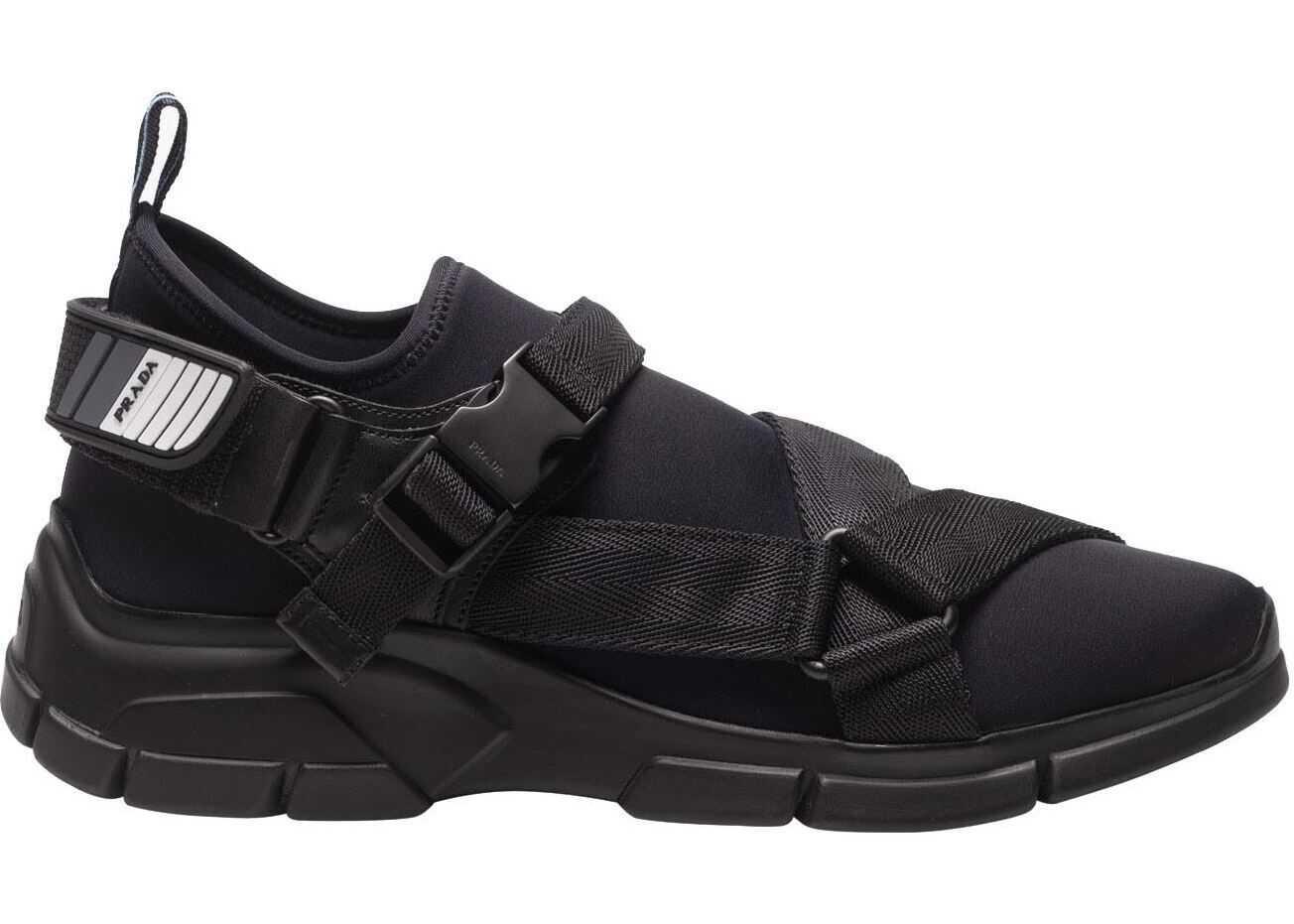 Prada Sport Black Neoprene Sneakers With Logo Black
