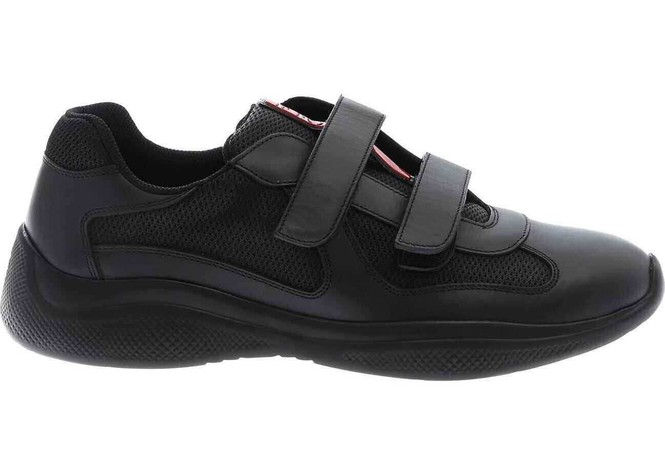 Prada Sport Plume Bike Sneakers In Black Black