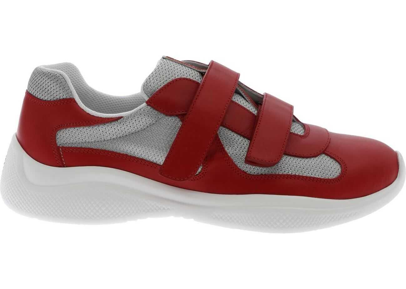 Prada Sport Plume Bike Sneakers In Red Red