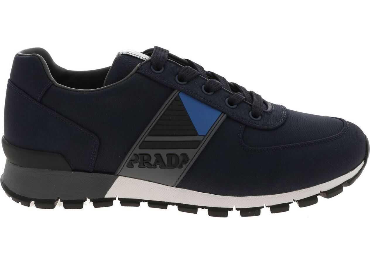 Prada Sport Sneakers In Blue Technical Fabric Blue