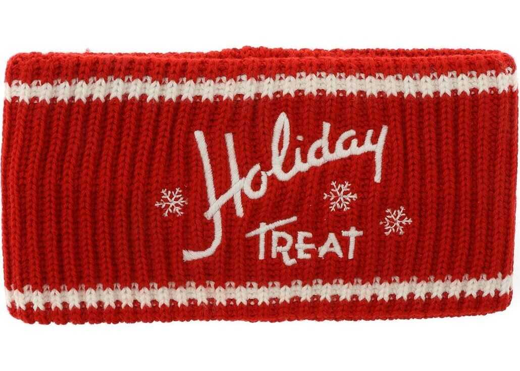 Philosophy di Lorenzo Serafini Red Collar With Holiday Treat Embroidery Red
