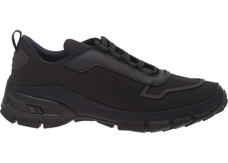 Prada Sport Neoprene Sneakers In Black Black
