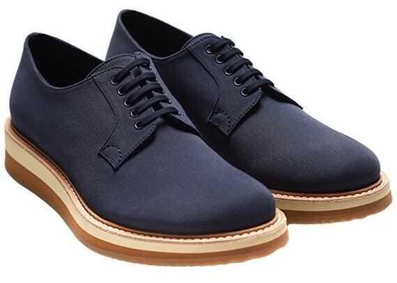 Prada Sport Leather Derby Shoes 15pesuprada2eg119-4 Blue imagine b-mall.ro