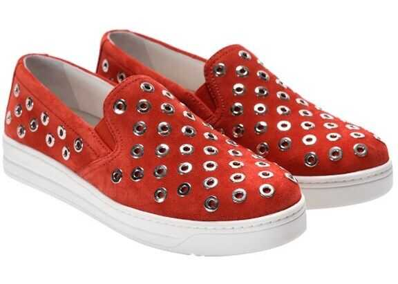 Prada Sport Suede Sneakers 3S6159 O53 F0D17 Red imagine b-mall.ro