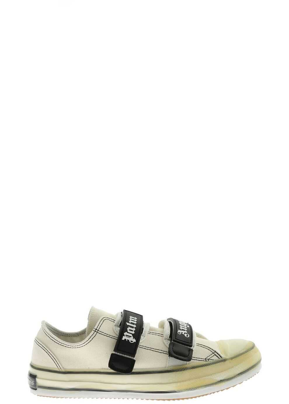 Palm Angels Vulcanized Sneakers In White White