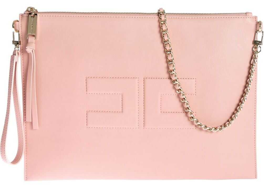 Logo Pouch Bag In Antique Pink thumbnail