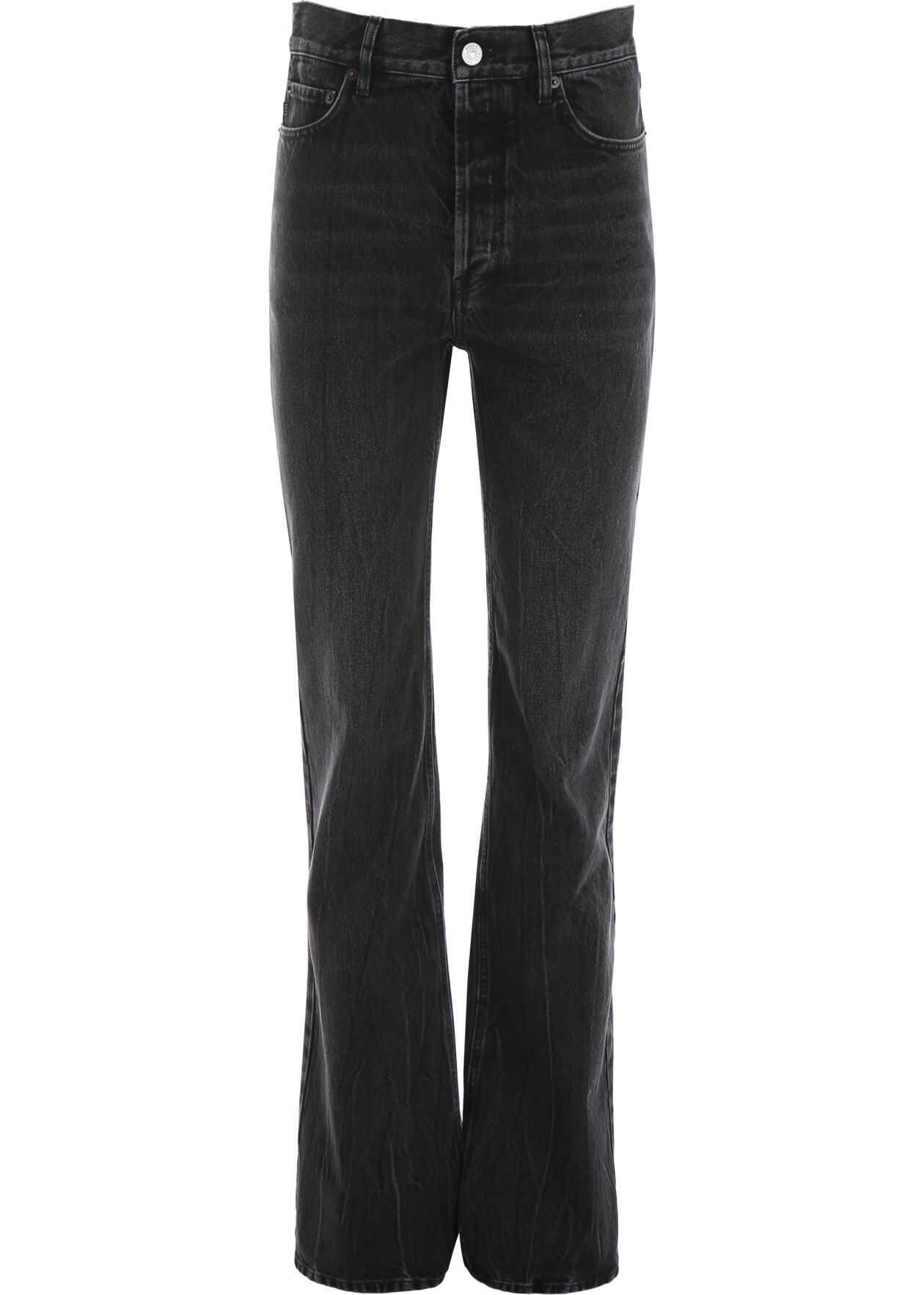 Balenciaga Straight-Leg Jeans STREAKY BLACK