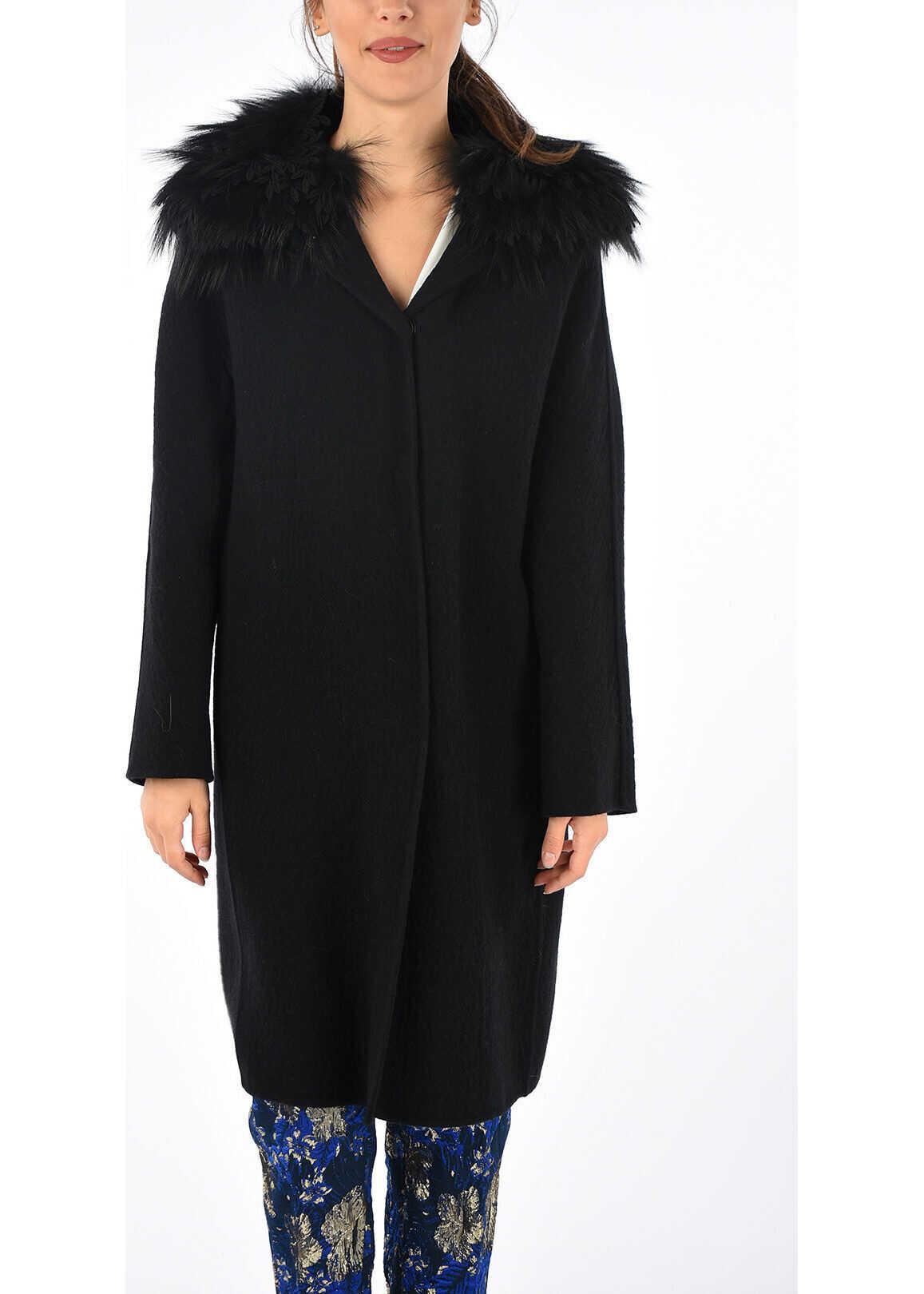 Real Fur Details Coat