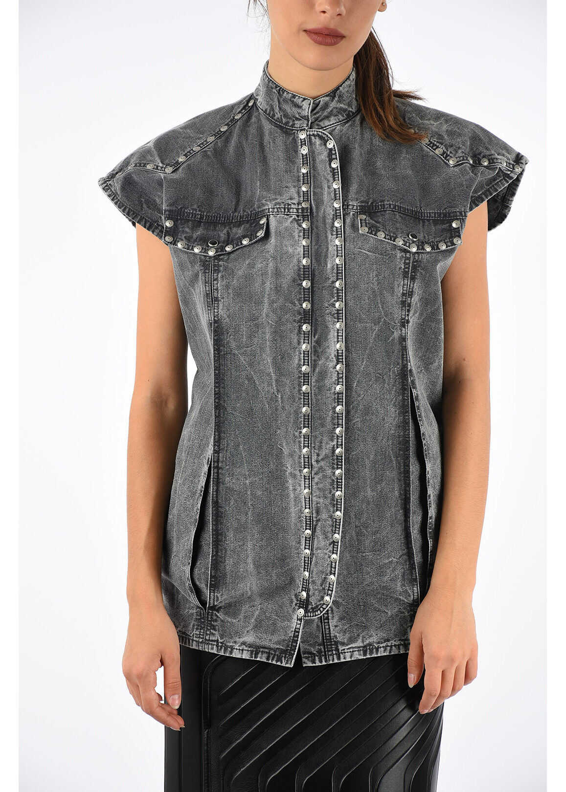 Givenchy Denim Sleeveless Jacket GRAY