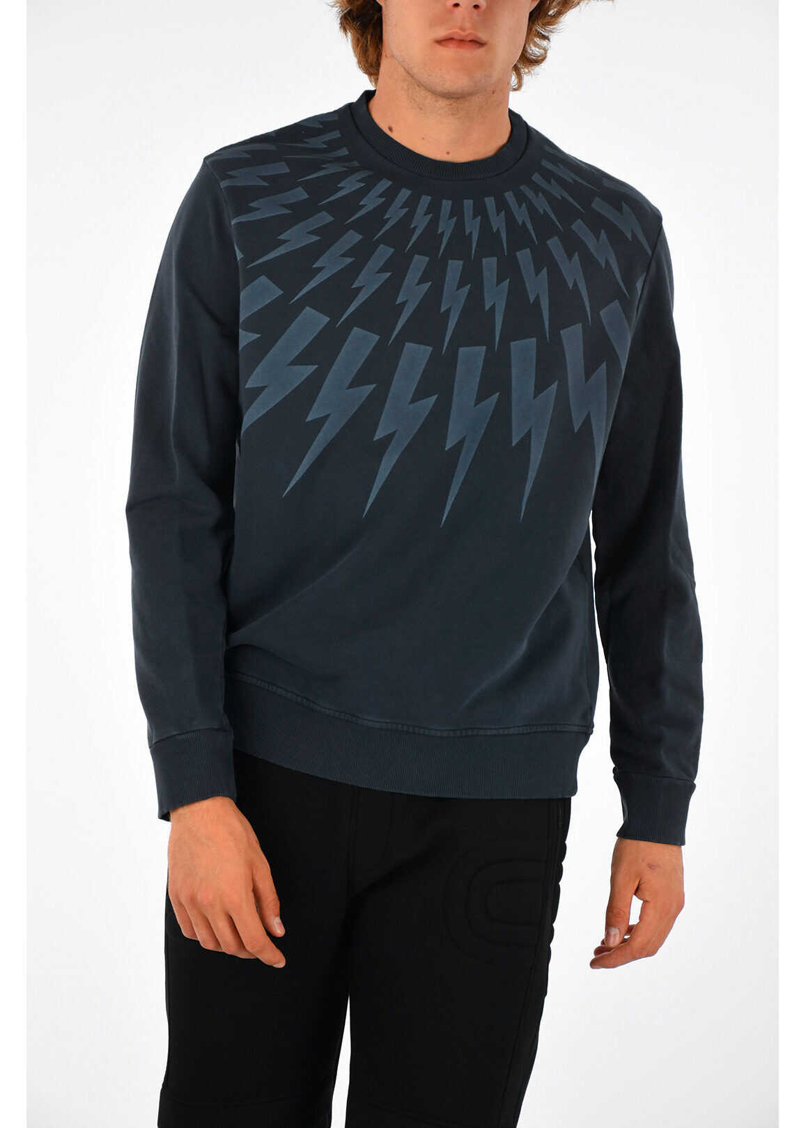 Neil Barrett Thunderbolt Sweatshirt MIDNIGHT BLUE