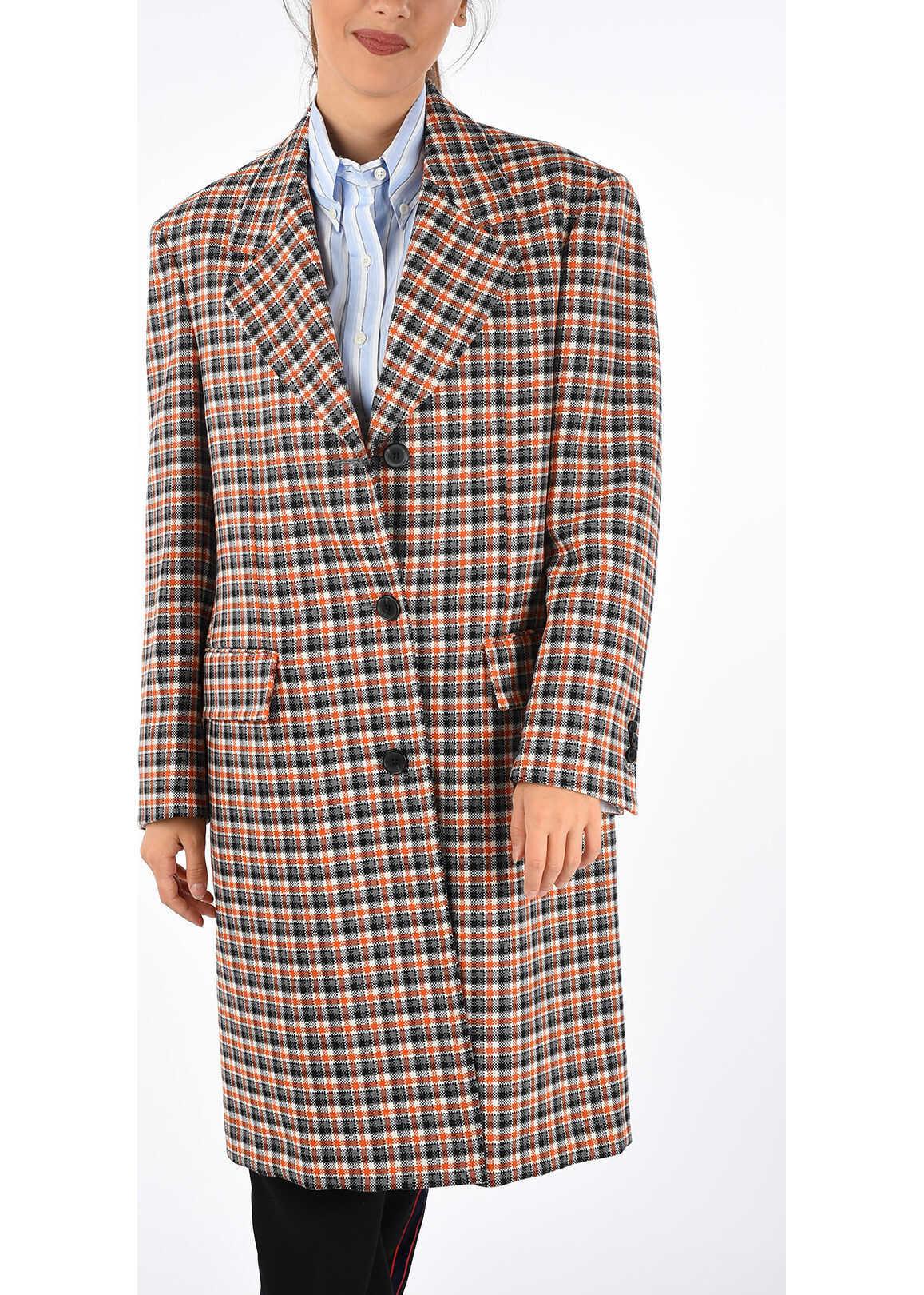 Calvin Klein 205W39NYC Virgin Wool Coat MULTICOLOR