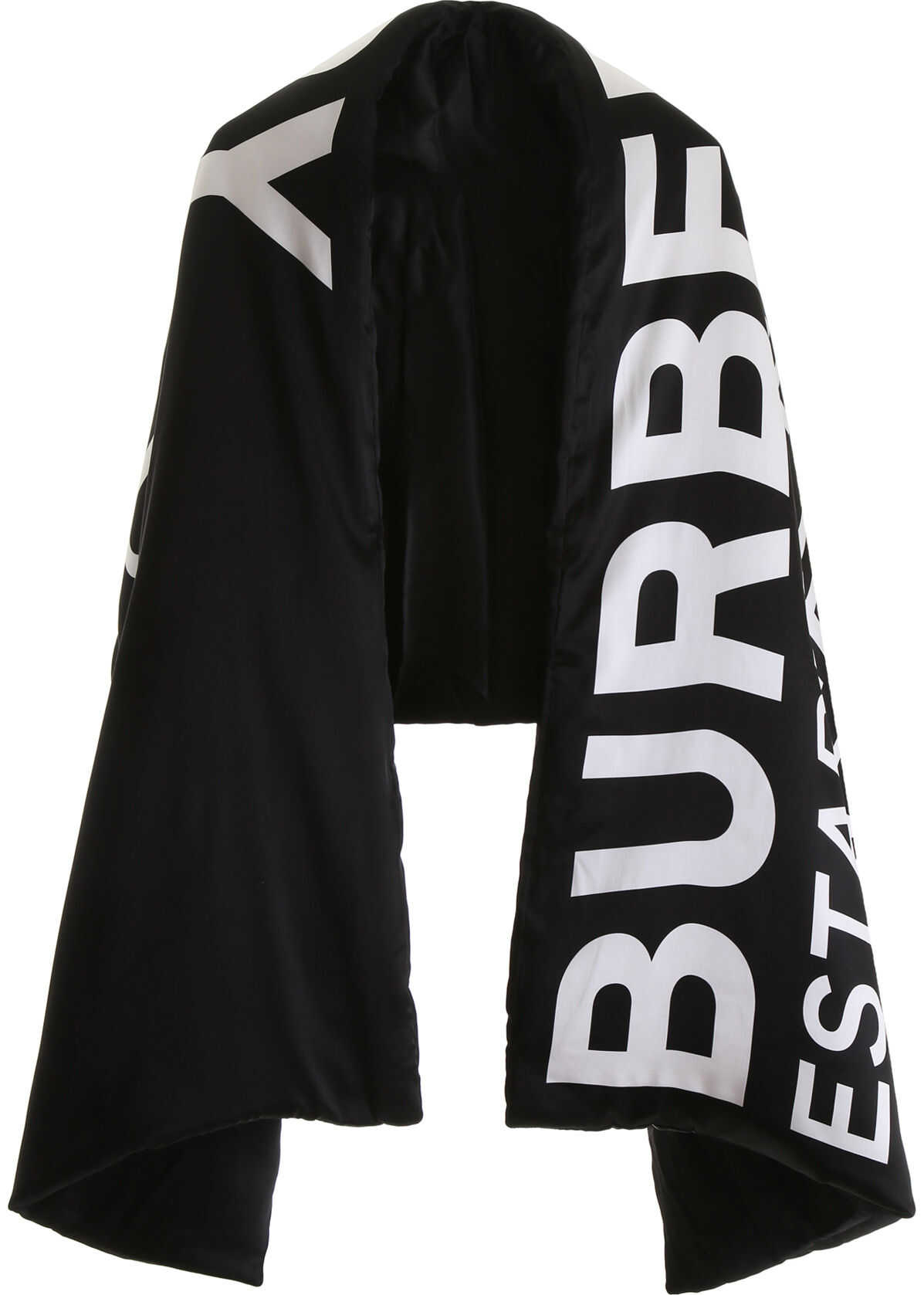 Burberry Horseferry Padded Scarf BLACK WHITE