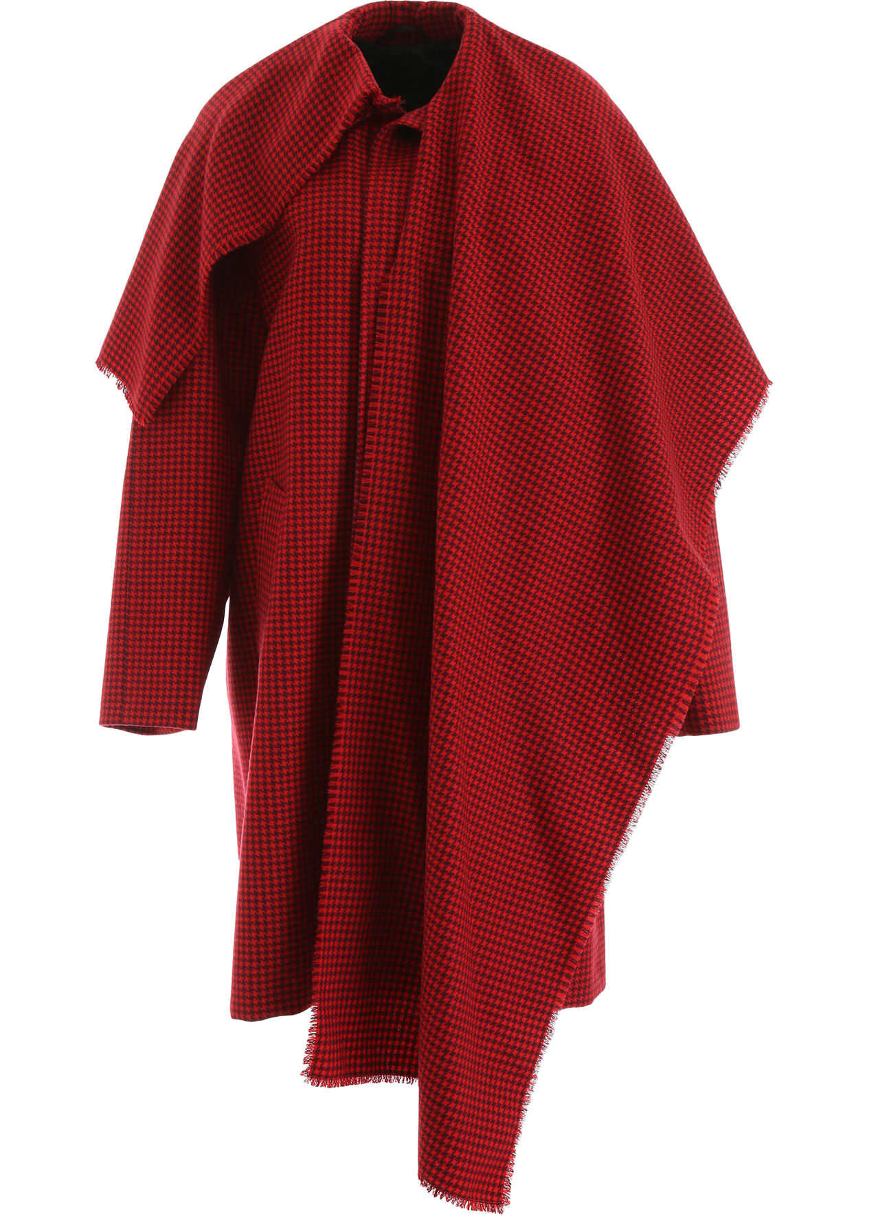 Balenciaga Houndstooth Coat RED