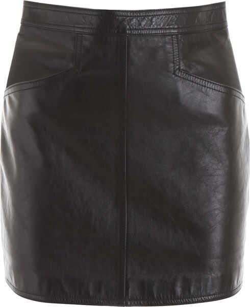 Fuste Dama Saint Laurent Leather Mini Skirt