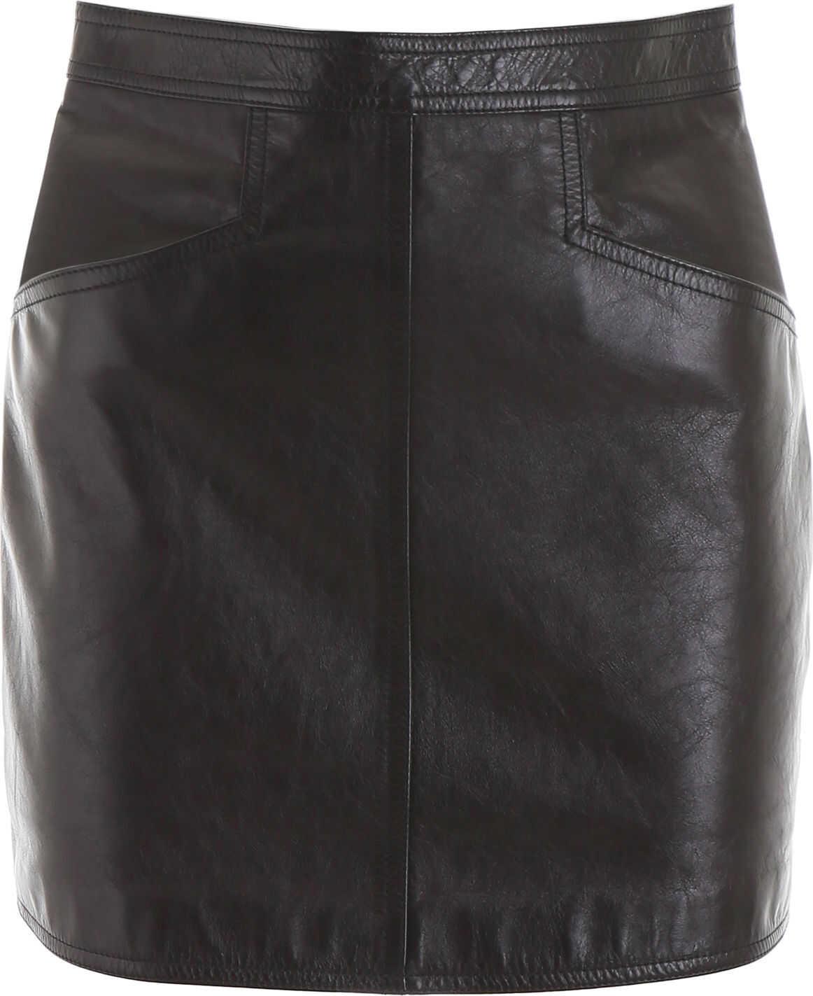 Saint Laurent Leather Mini Skirt NOIR NOIR