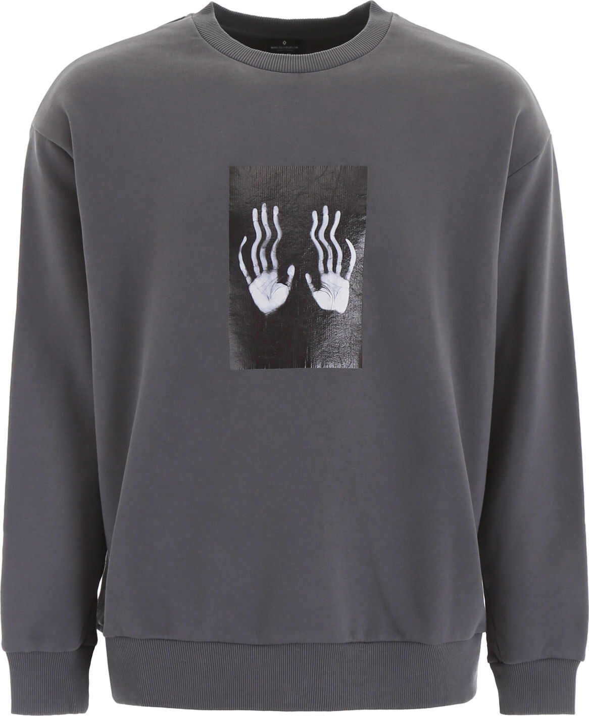 Marcelo Burlon Hands Square Sweatshirt DARK GREY LIGHT GREY