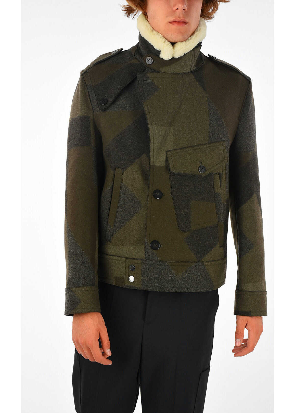 Neil Barrett Single Breasted Short Coat N/A