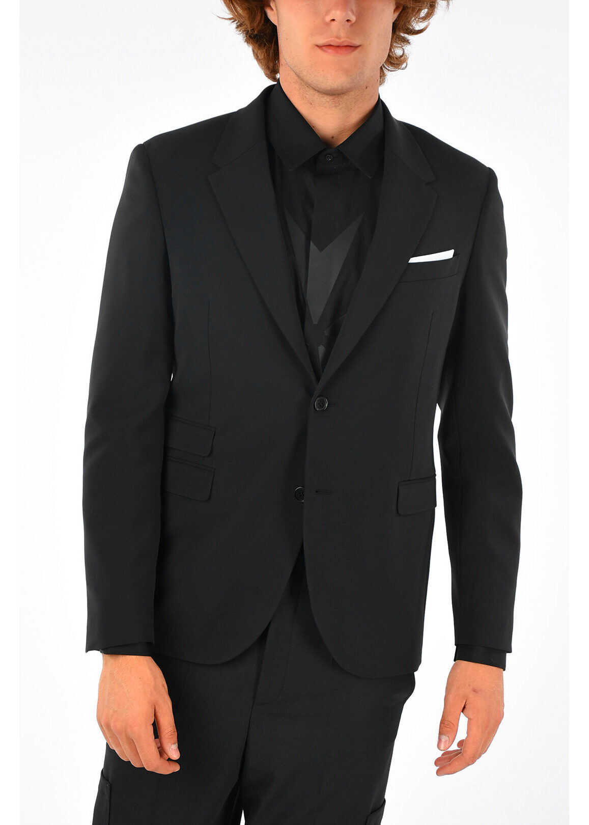 Neil Barrett Skinny Fit Blazer BLACK