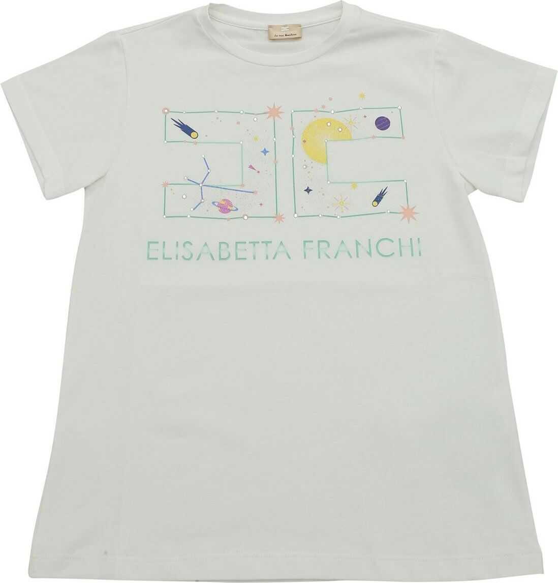 White T-Shirt With Logo Print thumbnail