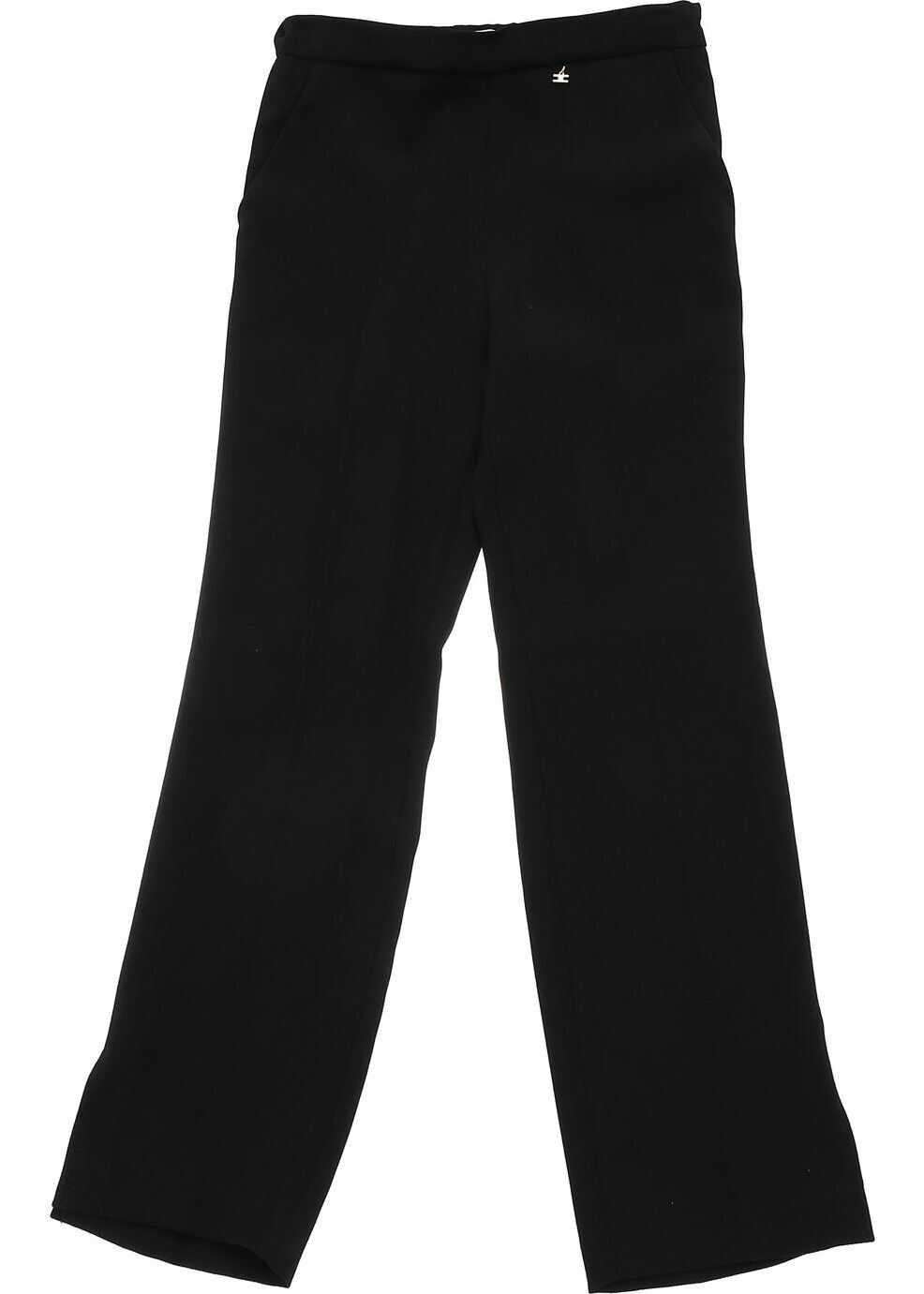 Black Trousers With Metal Logo thumbnail
