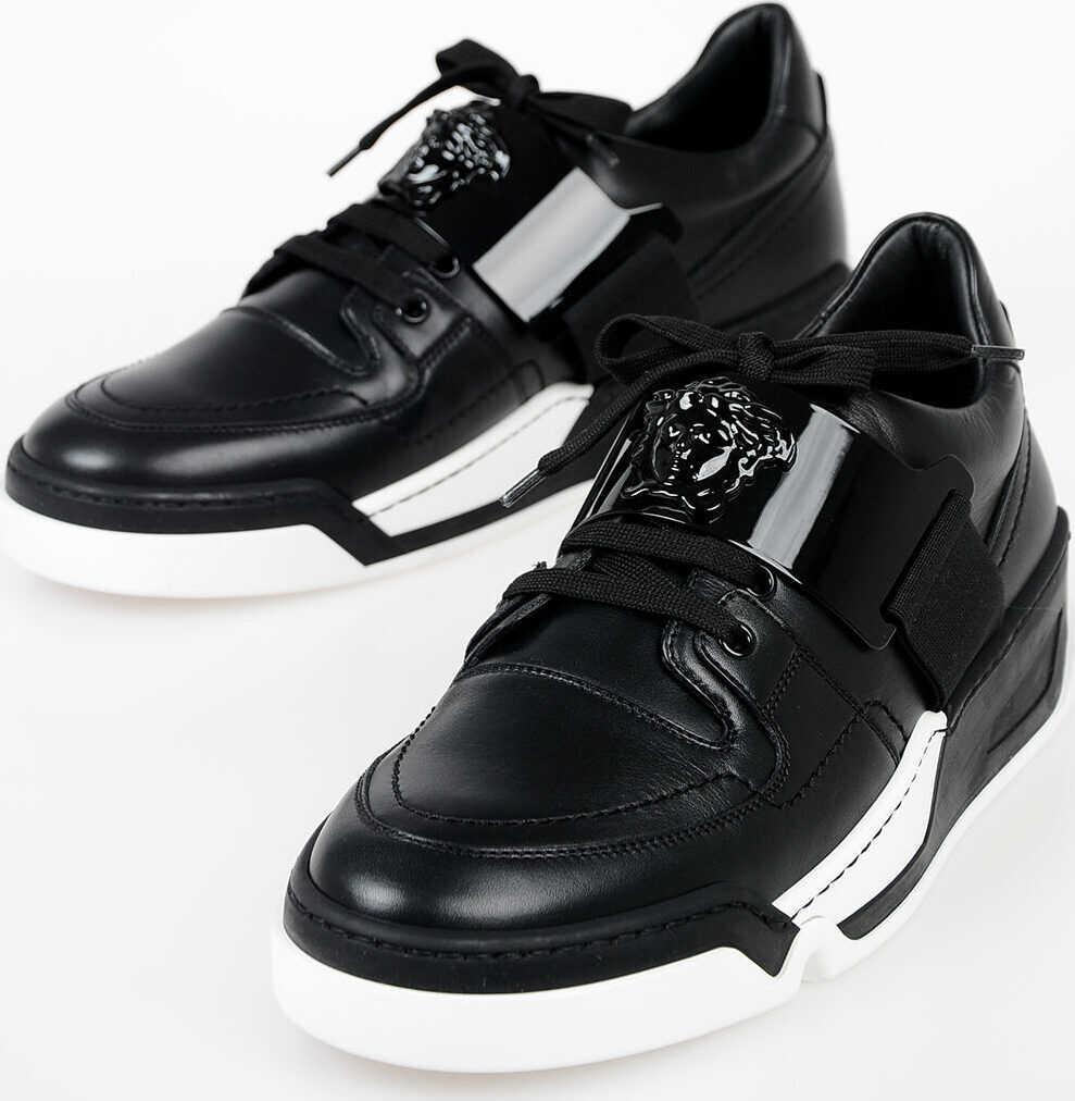 Versace Leather Sneakers BLACK