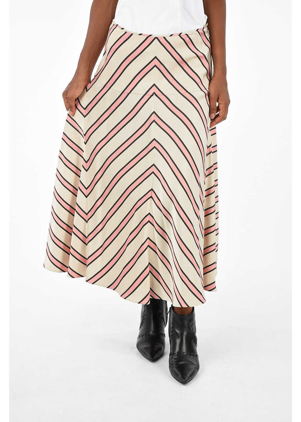 Fendi Striped SHADED Skirt PINK