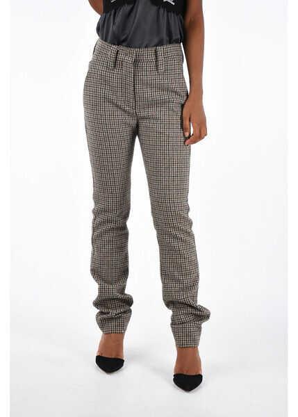 new style 9603f 6e7fe Miu Miu Virgin Wool SHETLAND Pants - BROWN - Boutique Mall
