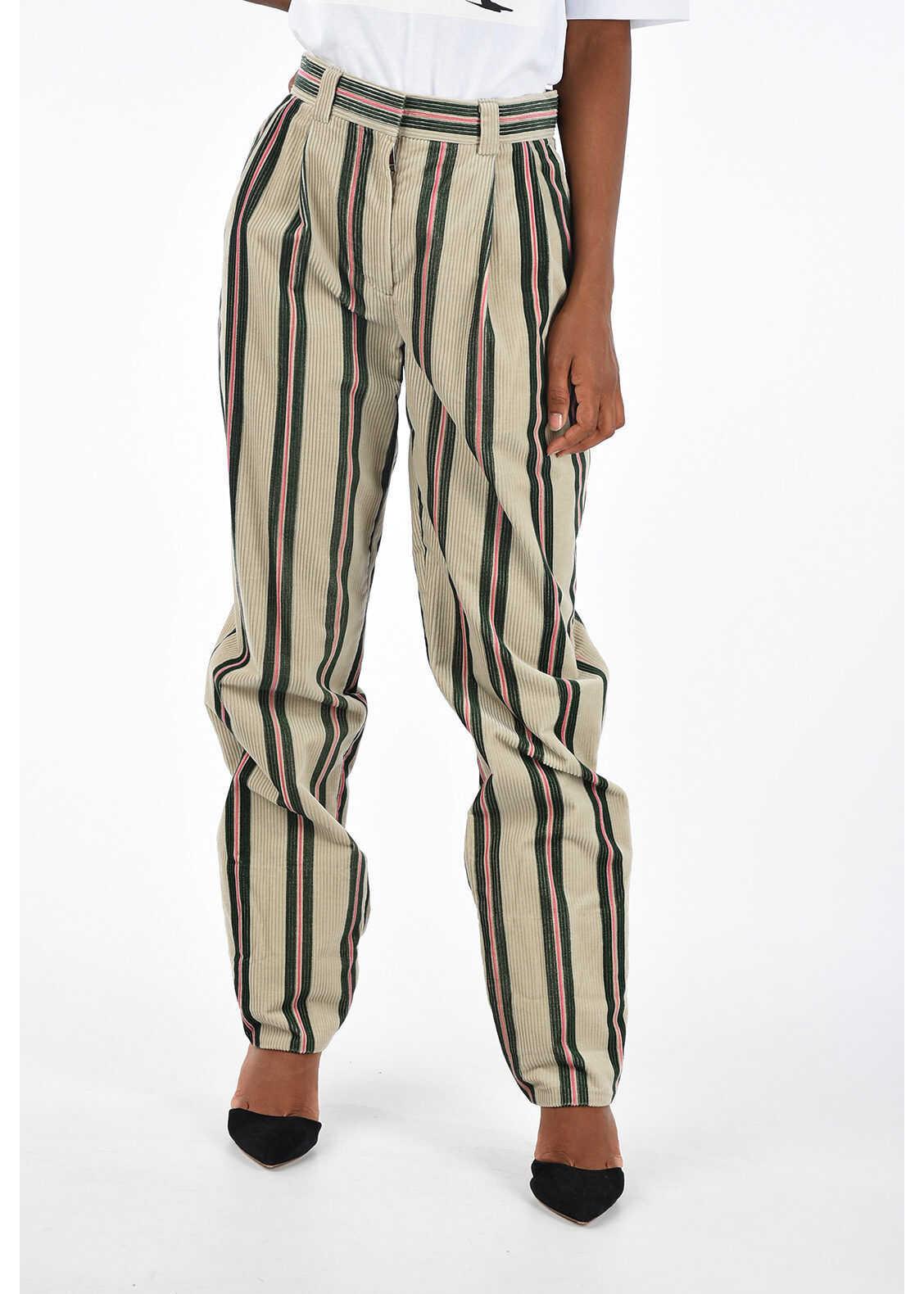 Burberry Velvet Striped Pants MULTICOLOR