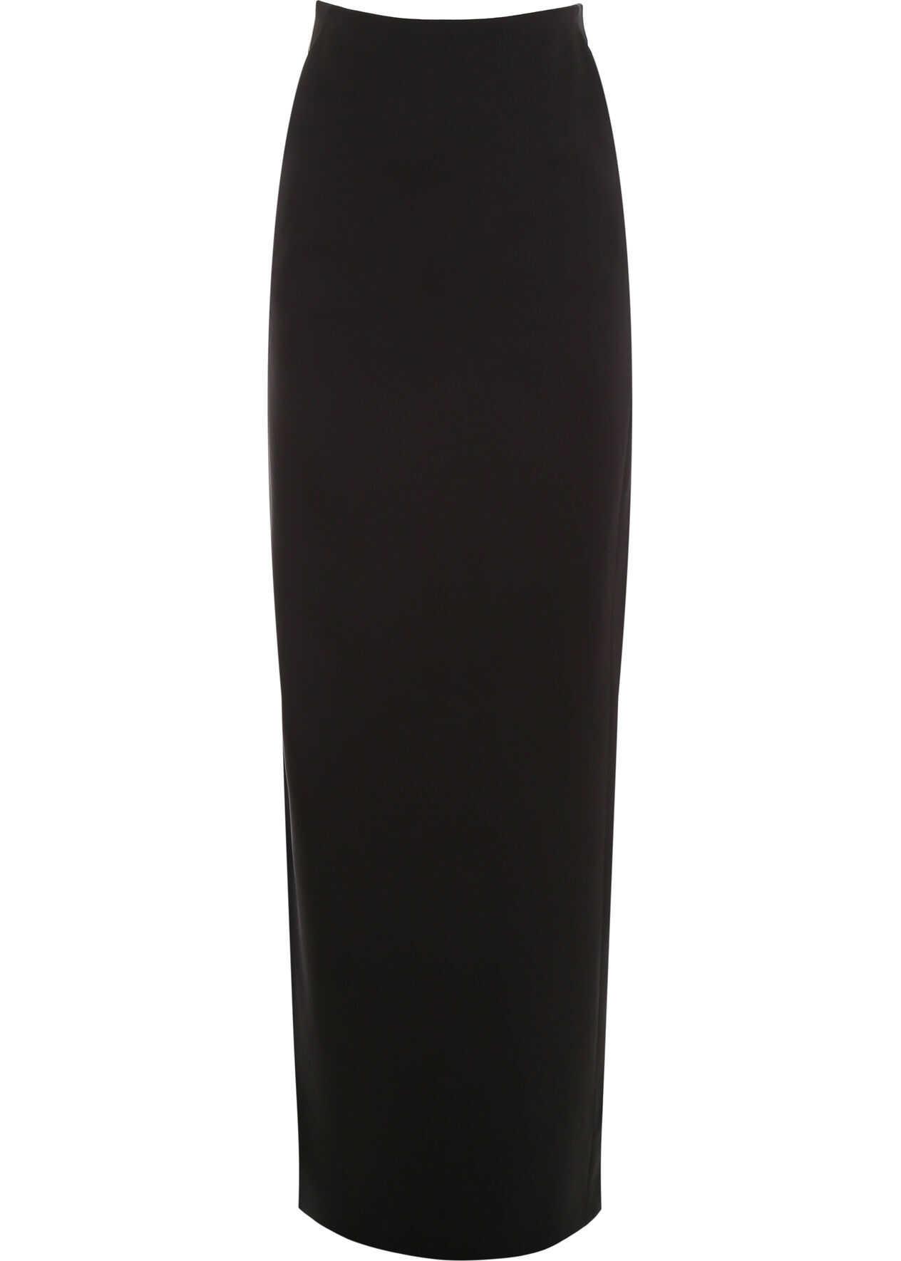 Saint Laurent Long Satin Skirt NOIR