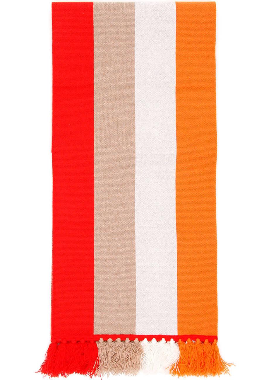 Burberry Striped Logo Scarf BRIGHT ORANGE