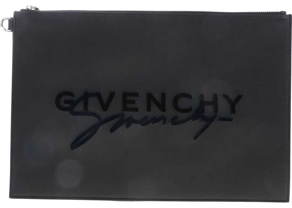 Emblem Clutch Bag In Black thumbnail