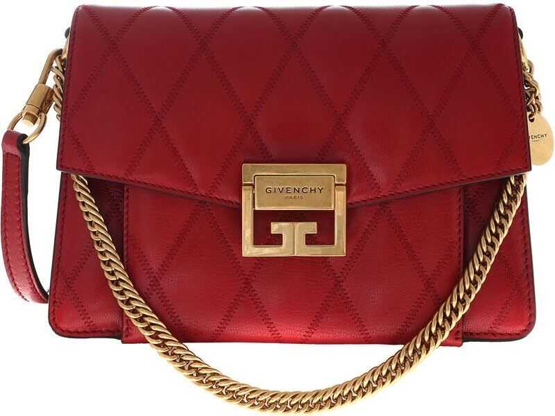 Shoulder Bag In Red Quilted Leather thumbnail