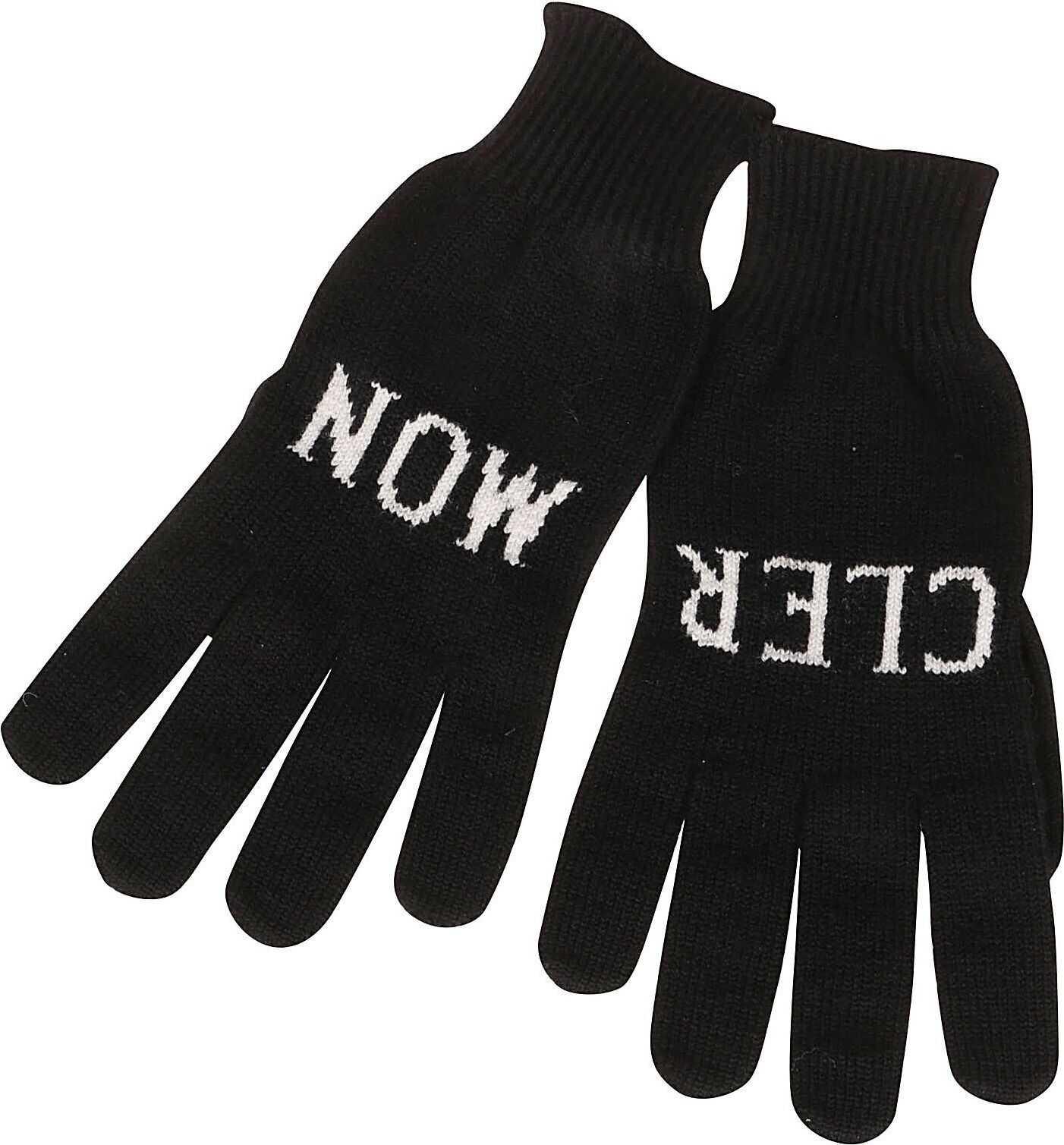 Moncler Wool Gloves BLACK