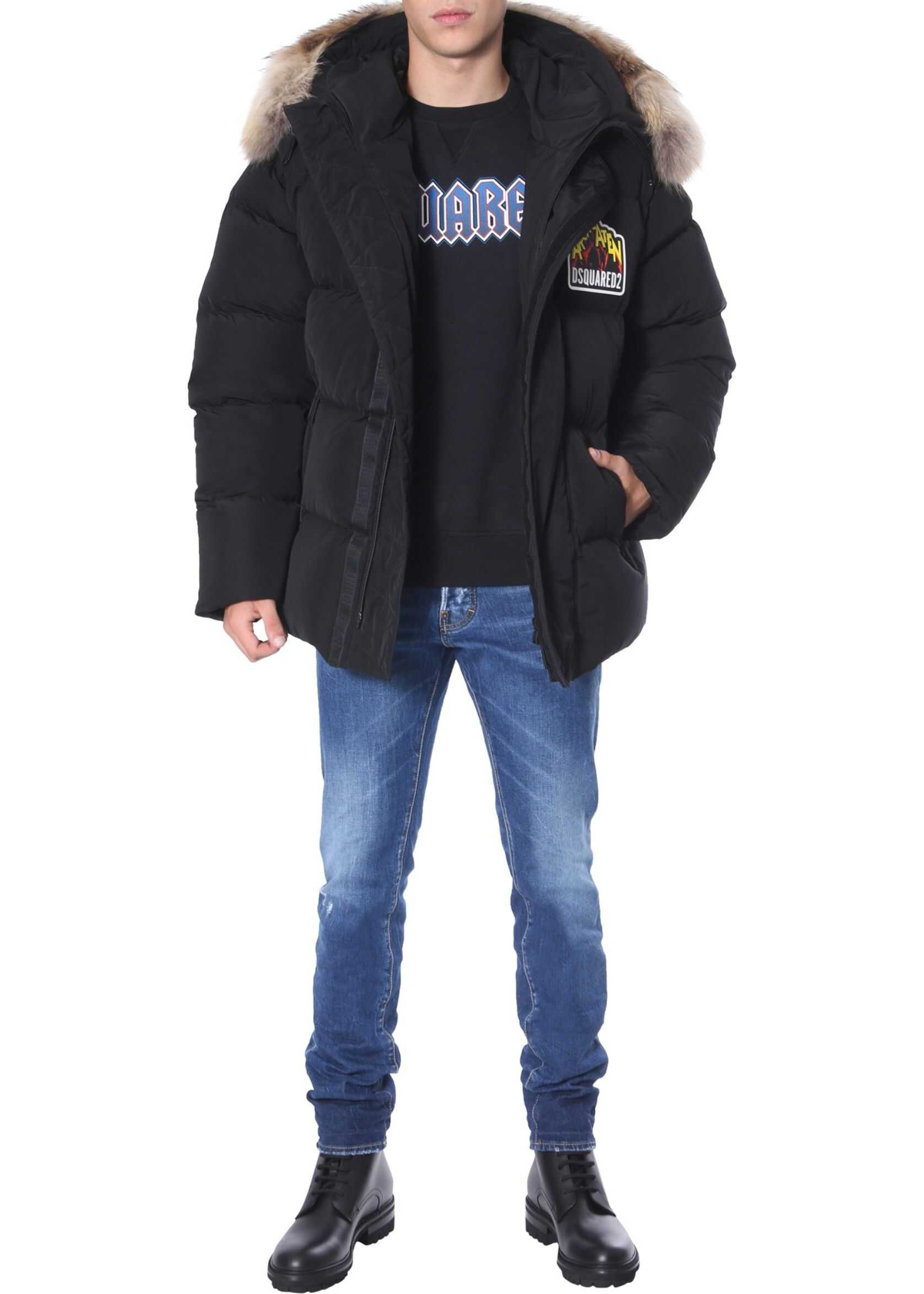 DSQUARED2 Down Jacket With Hood BLACK
