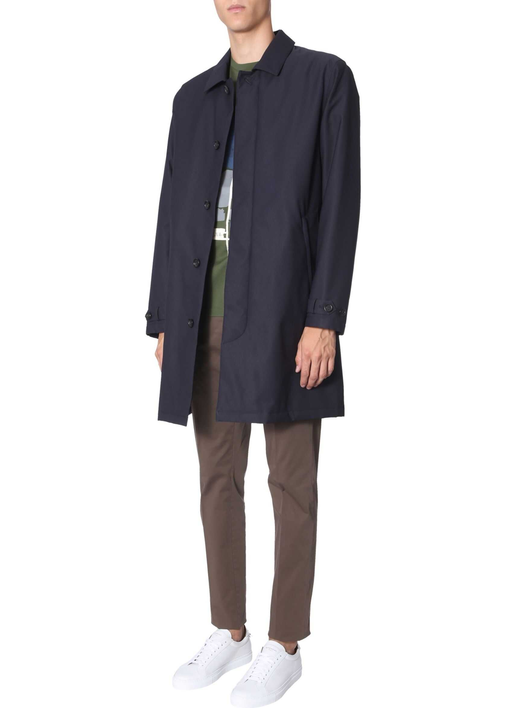 Z Zegna Technical Fabric Coat BLUE