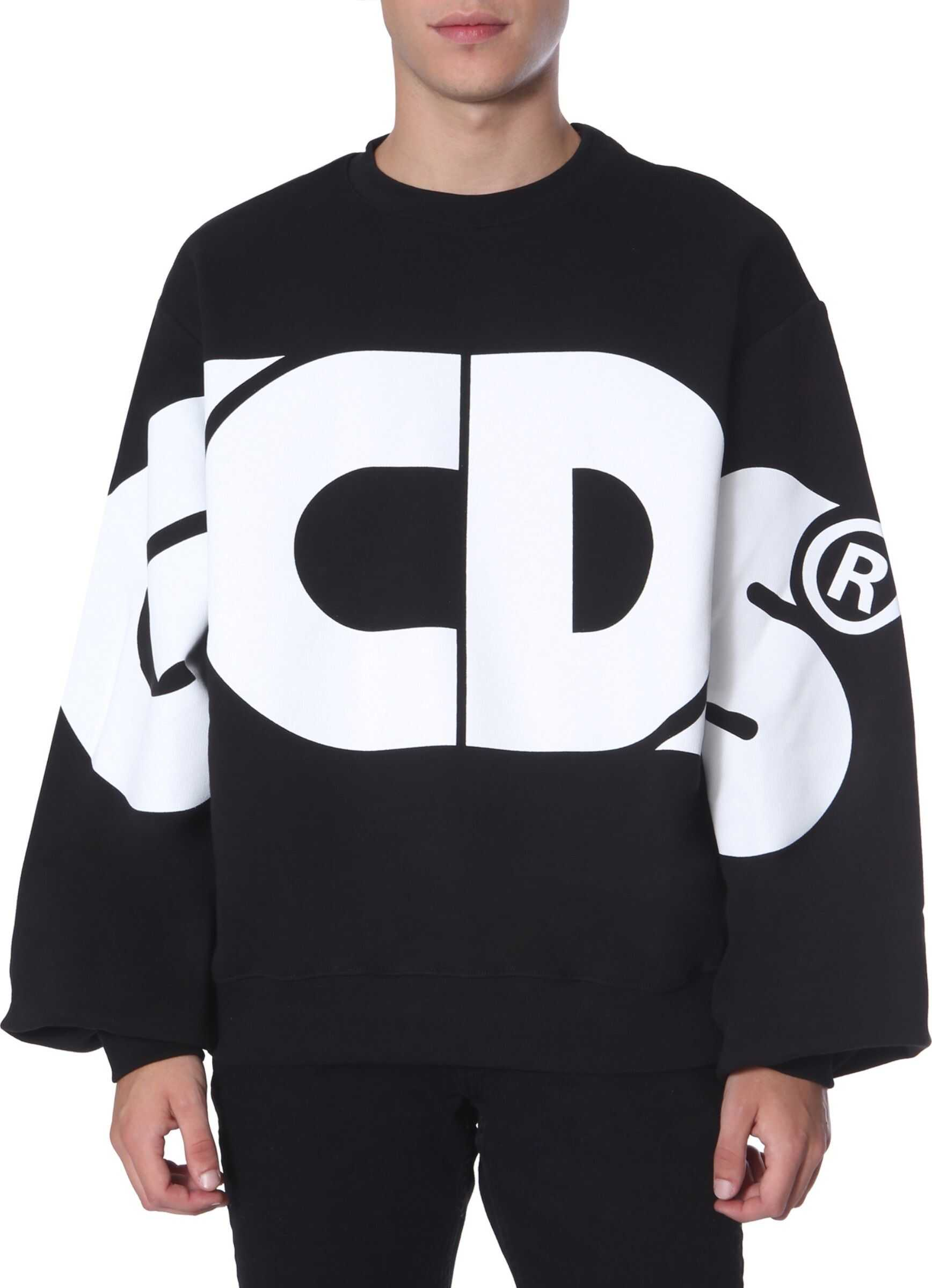 GCDS Crew Neck Sweatshirt BLACK