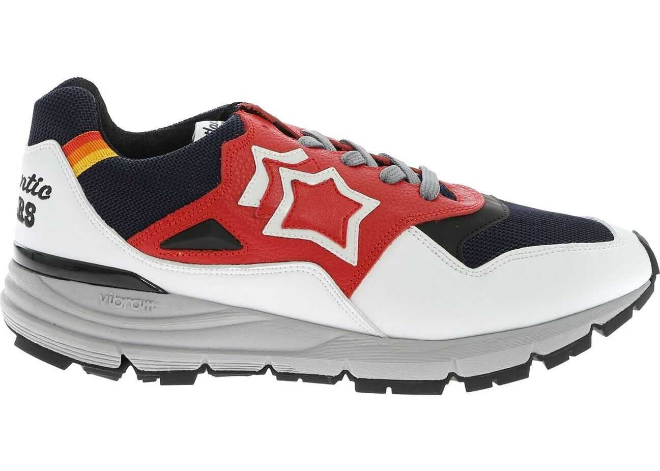 Atlantic Stars Polaris Sneakers In White Red And Blue White