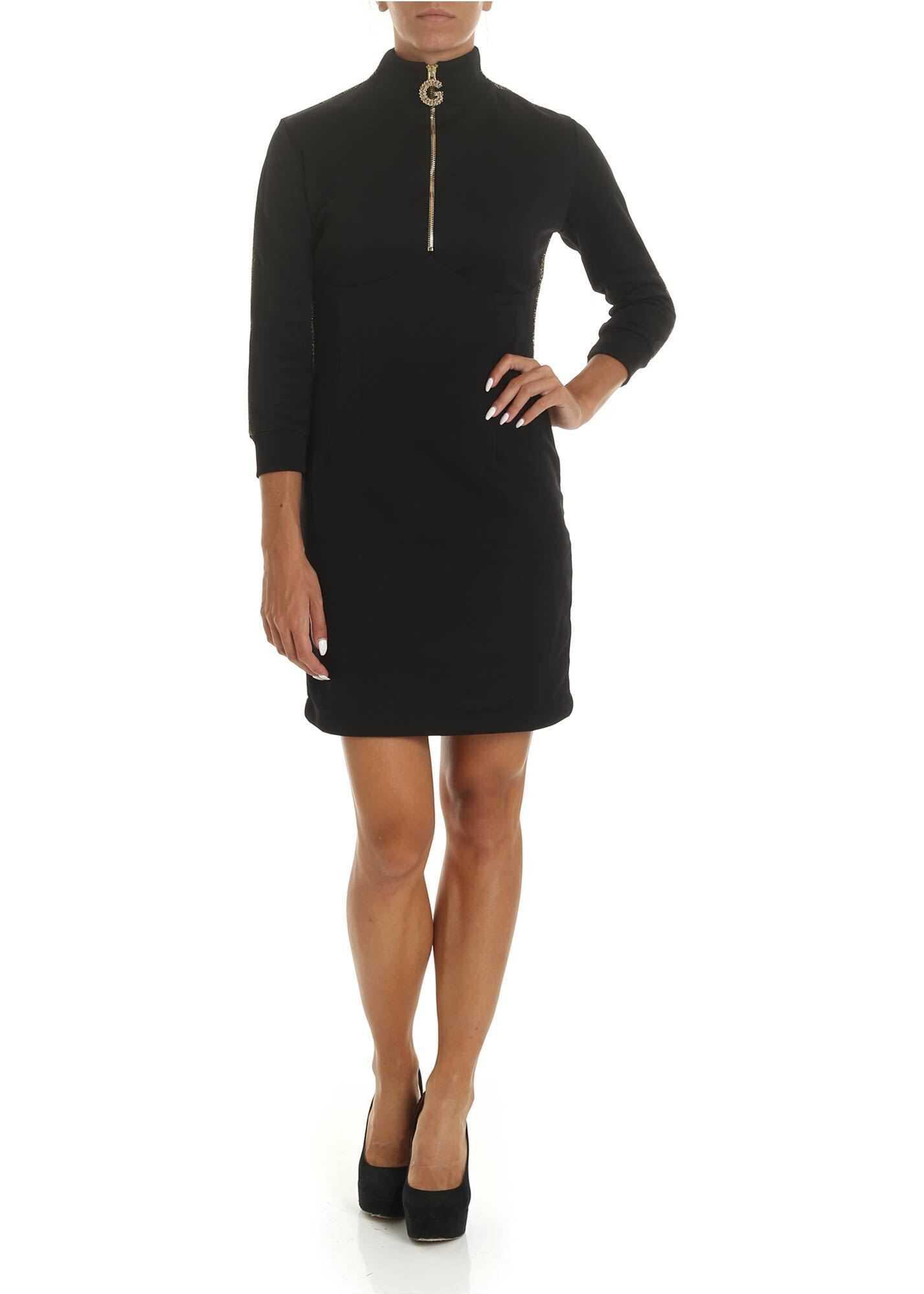 GAëLLE Paris Black Dress With Lamé Edges Black