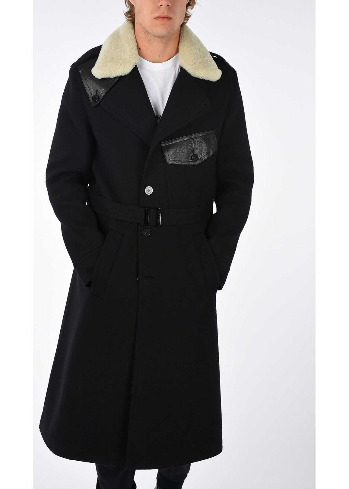 Neil Barrett Wool Blend Coat BLACK