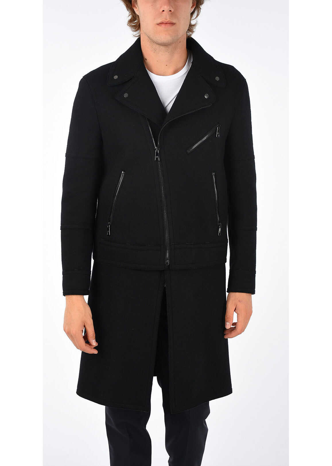 Neil Barrett Wool Blend Coat BLACK