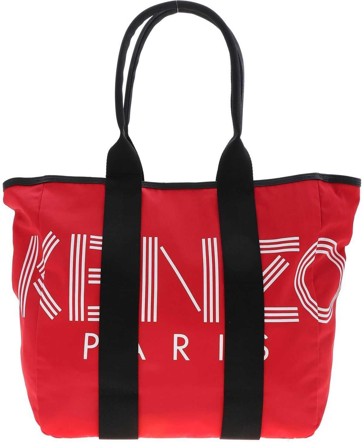 Kenzo Kenzo Paris Tote Bag In Red 5SF219 F24 21 Red imagine b-mall.ro
