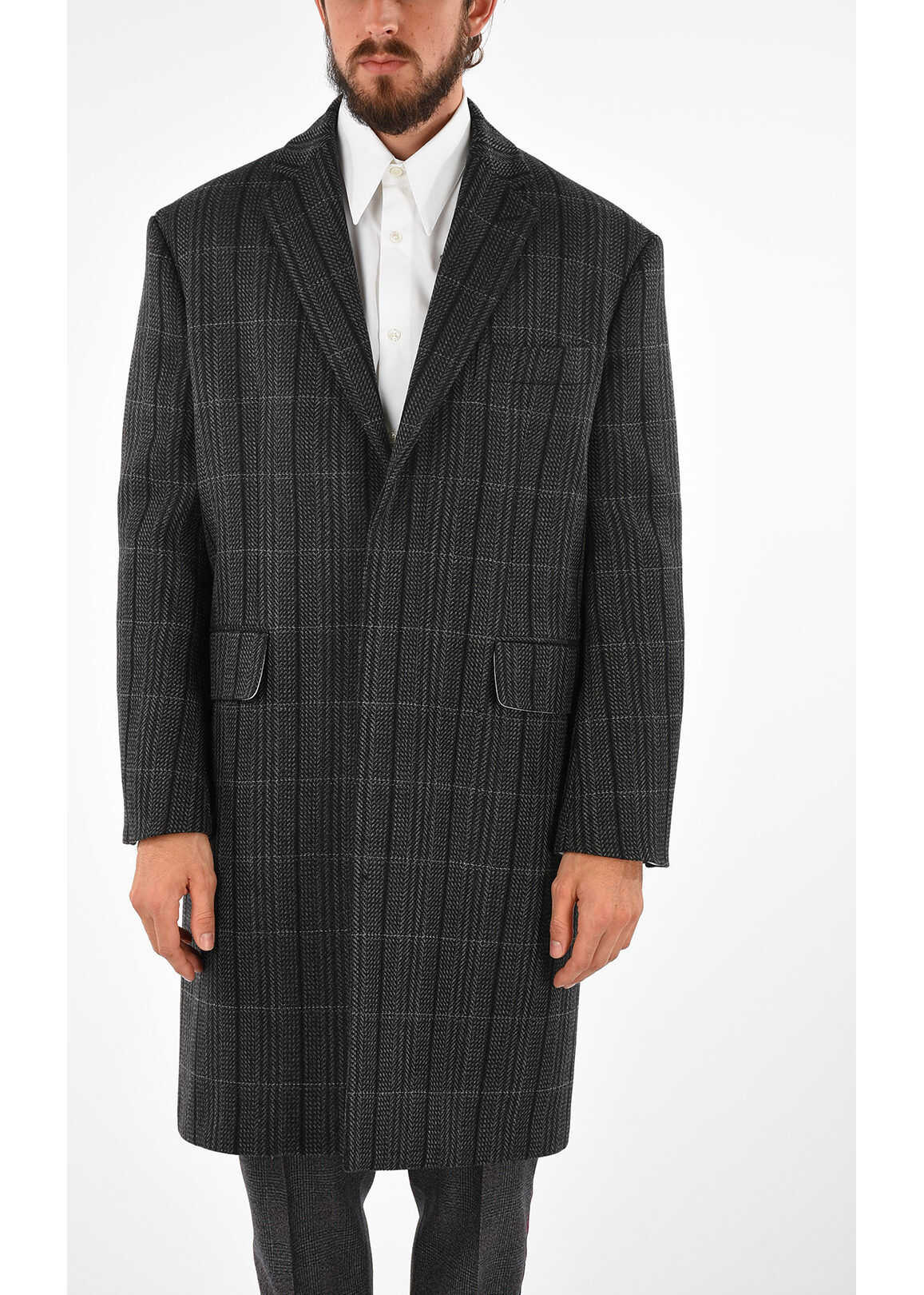 Calvin Klein 205W39NYC Wool Coat DARK GRAY