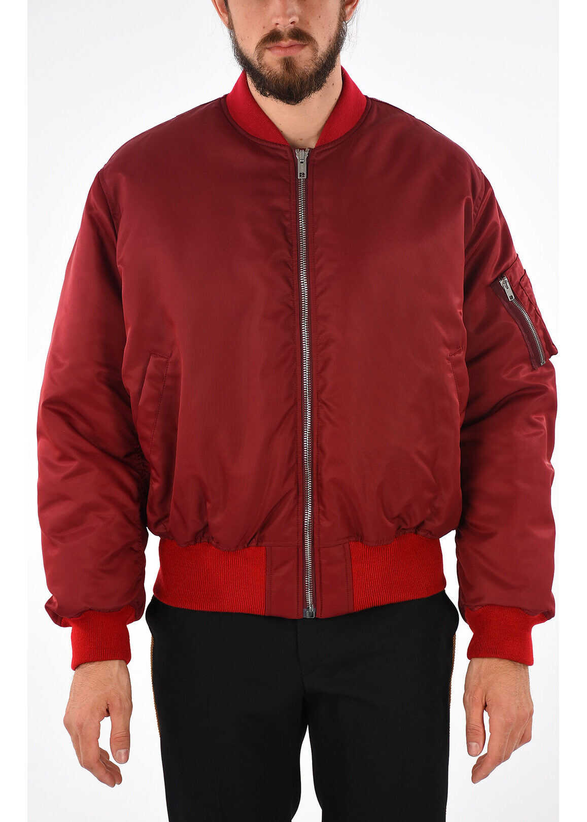 Calvin Klein 205W39NYC Embroidered Bomber RED