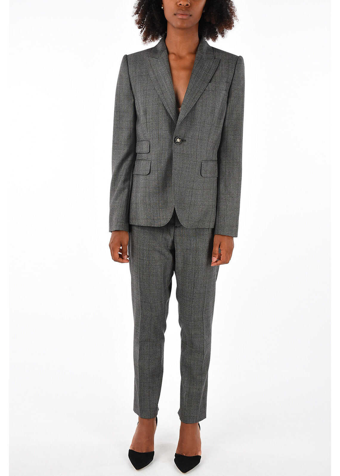 DSQUARED2 POWER Suit with Pants and Skirt GRAY
