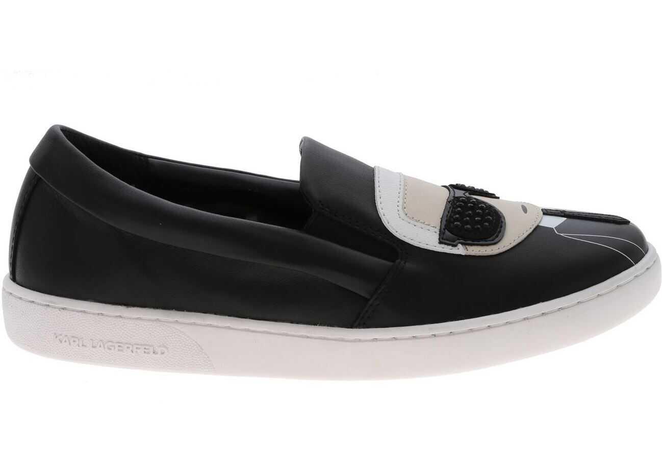 Karl Lagerfeld Kupsole Slip-On In Black KL61200 000 Black imagine b-mall.ro